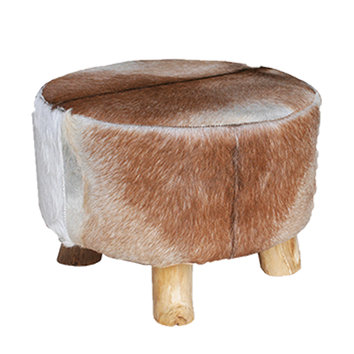 Cassidy Goathide Coffee Table Brown White